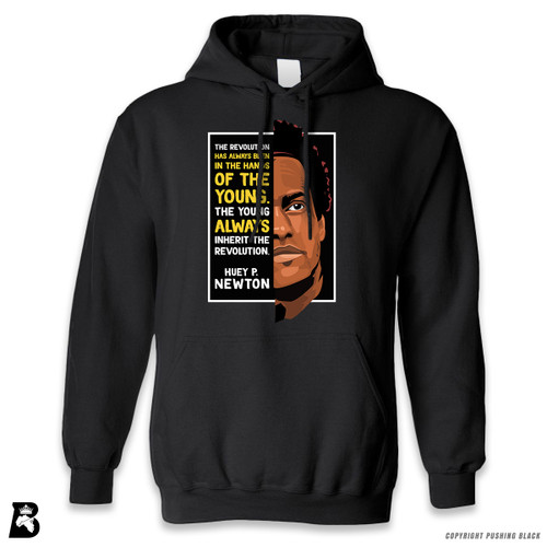 'The Legacy Collection - Huey P. Newton 'The Young Inherit the Revolution'' Premium Unisex Hoodie with Pocket