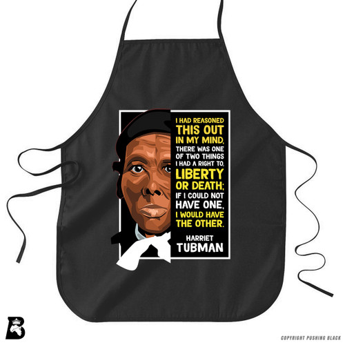 'The Legacy Collection - Harriet Tubman 'Liberty or Death'' Premium Canvas Kitchen Apron
