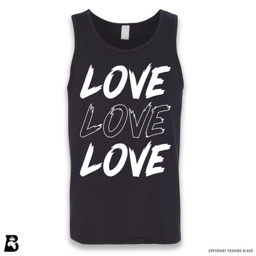 'Love Love Love' Sleeveless Unisex Tank Top