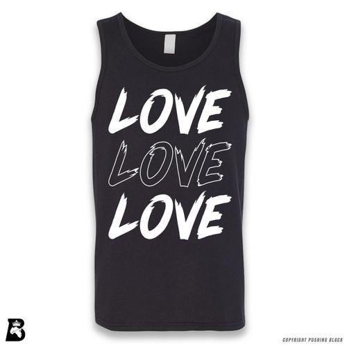 'Love Love Love' Sleeveless Unisex Tank Top