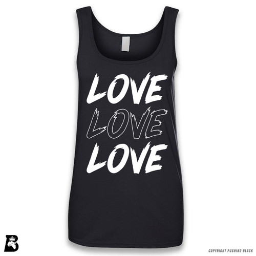 'Love Love Love' Sleeveless Ladies Tank Top