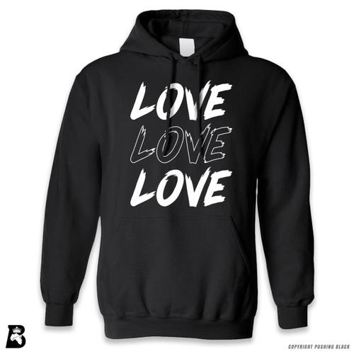 'Love Love Love' Premium Unisex Hoodie with Pocket