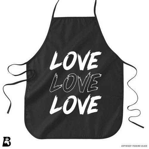'Love Love Love' Premium Canvas Kitchen Apron