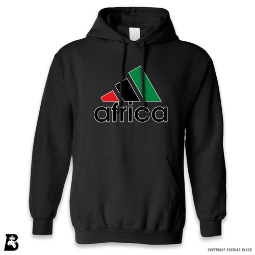 'Africa - Black, Red & Green' Premium Unisex Hoodie with Pocket