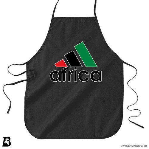 'Africa - Black, Red & Green' Premium Canvas Kitchen Apron