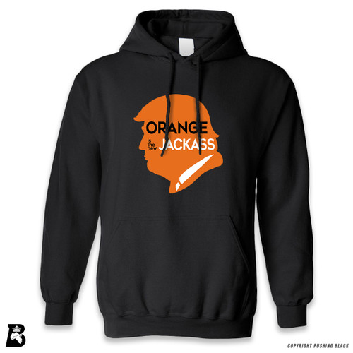 'Orange Is the New Jackass' Premium Unisex Hoodie with Pocket