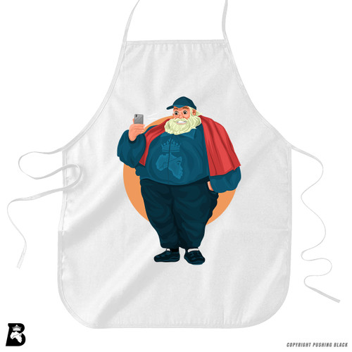 'Santa Selfie' Premium Canvas Kitchen Apron