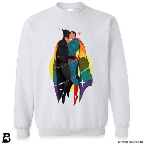 '2 White SuperQueeroes' Premium Unisex Sweatshirt