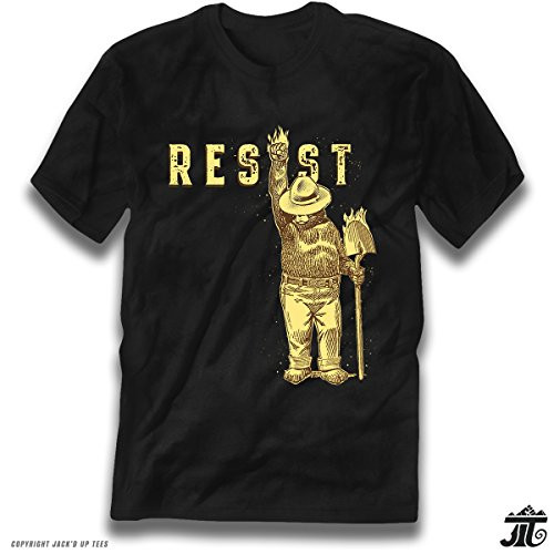 'Resist' Smokey the Bear Blazing Shovel Premium Tee - Never Trump