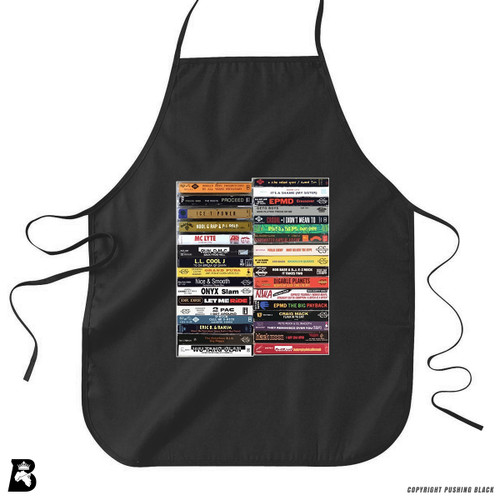 'Hip Hop Tapes' Premium Canvas Kitchen Apron