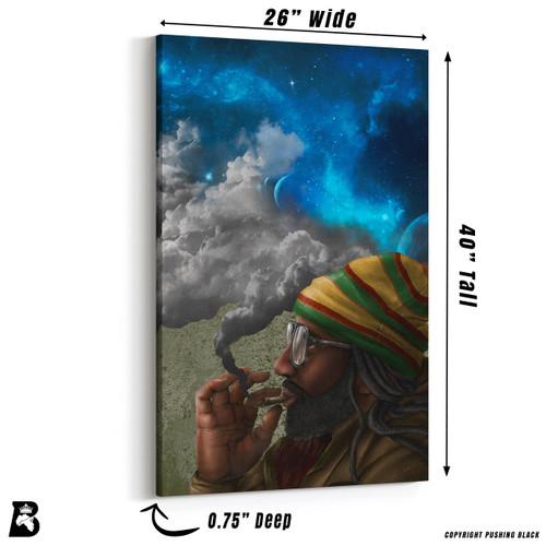 'Rasta Smoking and Beyond' Premium Wall Canvas