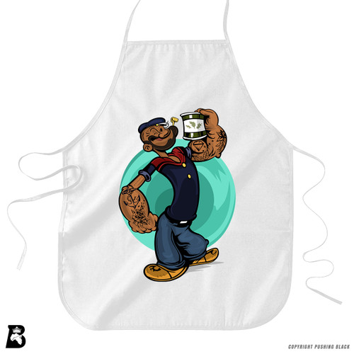 'Strong To The Finish' Premium Canvas Kitchen Apron