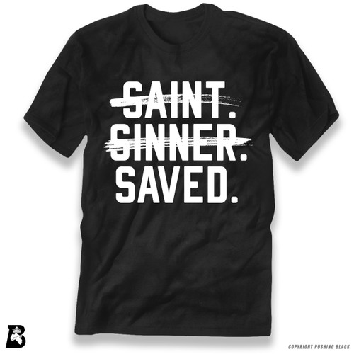 'Saint, Sinner, Saved' Premium Unisex T-Shirt