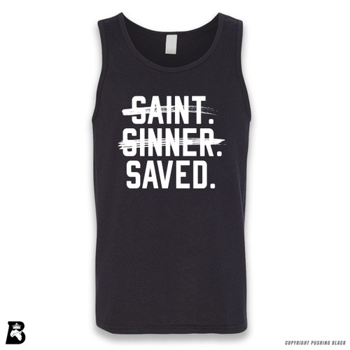 'Saint, Sinner, Saved' Sleeveless Unisex Tank Top
