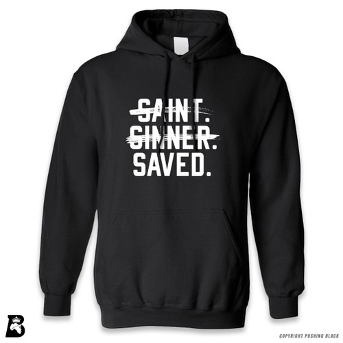 'Saint, Sinner, Saved' Premium Unisex Hoodie with Pocket