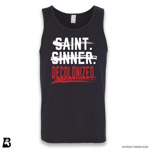 'Saint, Sinner, Decolonized' Sleeveless Unisex Tank Top