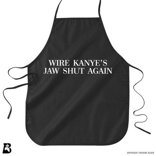 'Wire Kanye's Jaw Shut Again' Premium Canvas Kitchen Apron