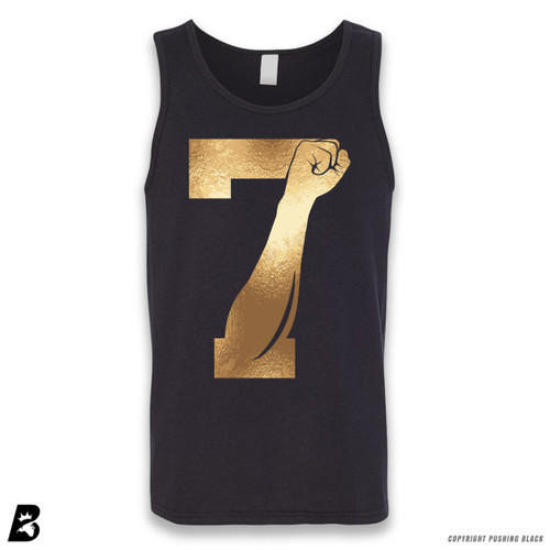 '7 Fist Up - Gold' Sleeveless Unisex Tank Top