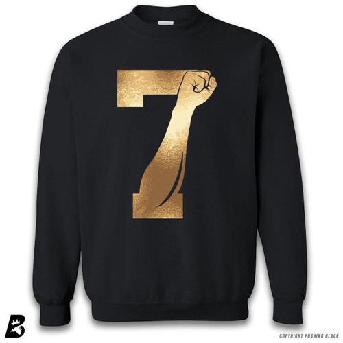 '7 Fist Up - Gold' Premium Unisex Sweatshirt