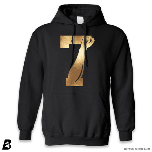 '7 Fist Up - Gold' Premium Unisex Hoodie with Pocket