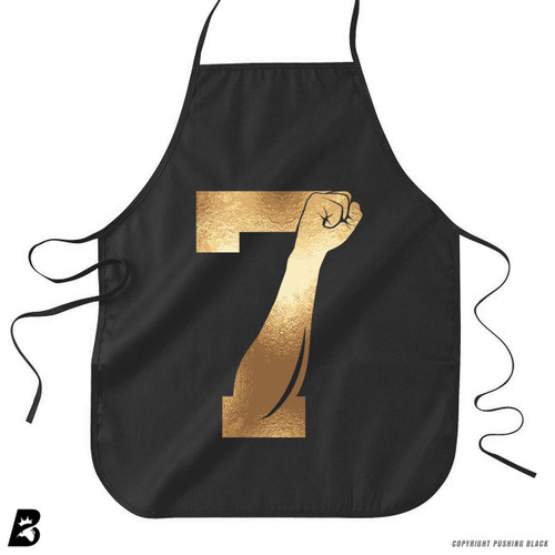'7 Fist Up - Gold' Premium Canvas Kitchen Apron
