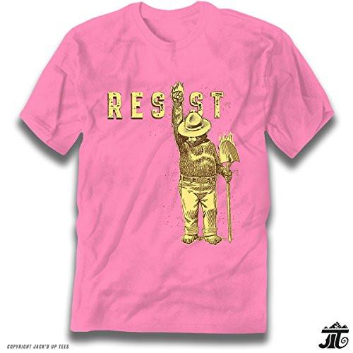 'Resist' Smokey the Bear Premium Tee - Shovel Up and Blazing - Never Trump