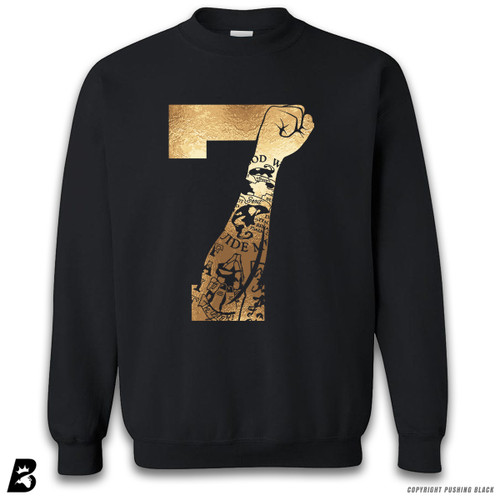 '7 Fist Up - Gold Tattoo' Premium Unisex Sweatshirt
