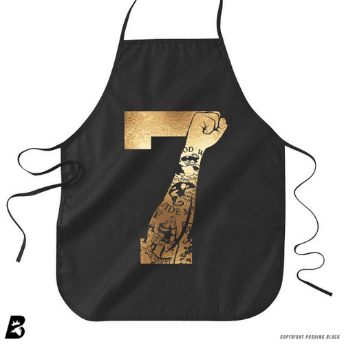 '7 Fist Up - Gold Tattoo' Premium Canvas Kitchen Apron