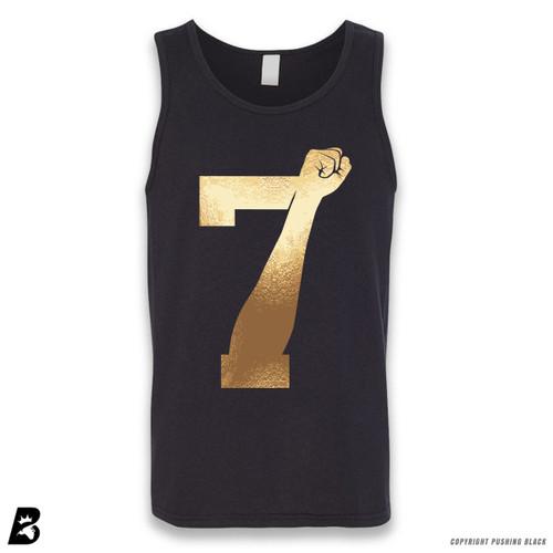 '7 Fist Up High - Gold' Sleeveless Unisex Tank Top