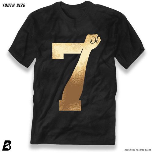 '7 Fist Up High - Gold' Premium Youth T-Shirt