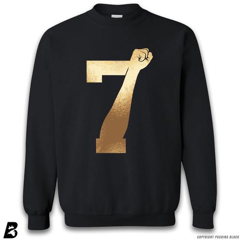 '7 Fist Up High - Gold' Premium Unisex Sweatshirt