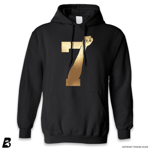 '7 Fist Up High - Gold' Premium Unisex Hoodie with Pocket