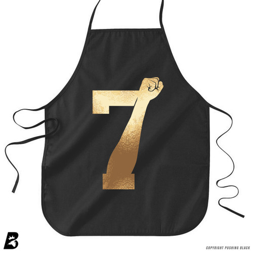 '7 Fist Up High - Gold' Premium Canvas Kitchen Apron