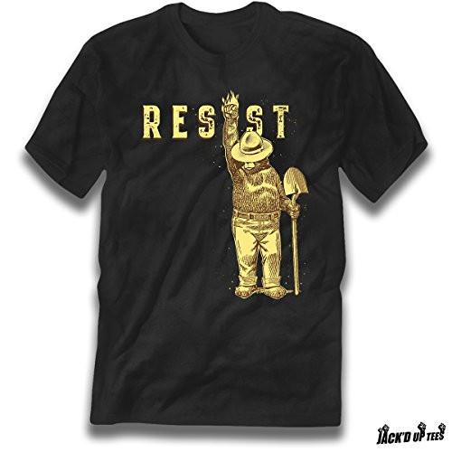 'Resist' Smokey the Bear Premium Tee - Shovel Up - Never Trump