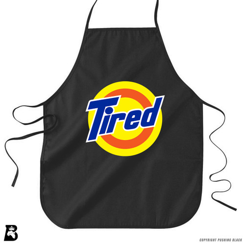 'TIRED' Premium Canvas Kitchen Apron