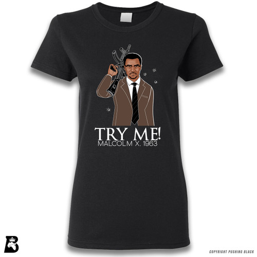 'Malcolm Shabazz - Try Me 1963 - Brown Suit' Premium Unisex T-Shirt