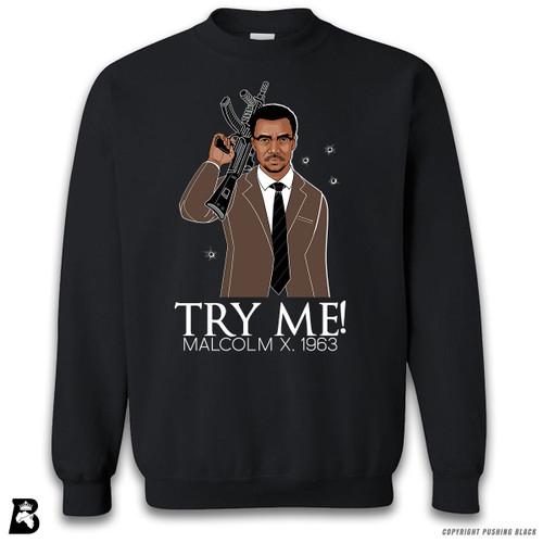 'Malcolm Shabazz - Try Me 1963 - Brown Suit' Premium Unisex Sweatshirt
