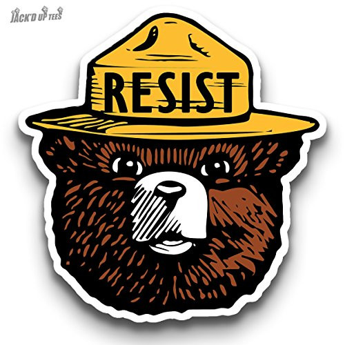 "'RESIST' Smokey the Bear 3"" Macbook / Laptop Decal (Color)"