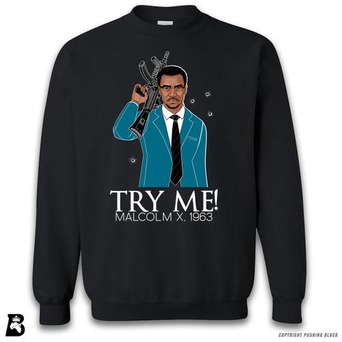 'Malcolm Shabazz - Try Me 1963 - Blue Suit' Premium Unisex Sweatshirt