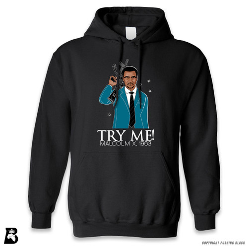 'Malcolm Shabazz - Try Me 1963 - Blue Suit' Premium Unisex Hoodie with Pocket