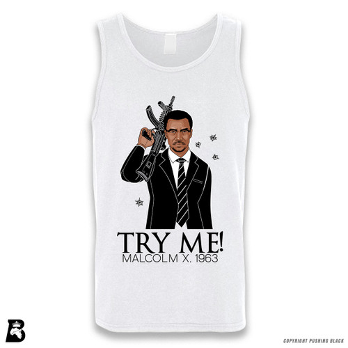 'Malcolm Shabazz - Try Me 1963' Sleeveless Unisex Tank Top