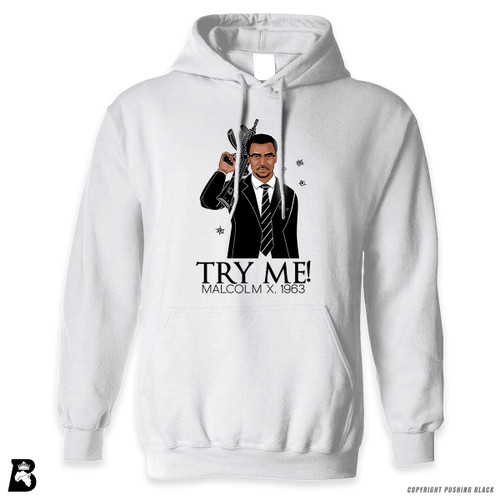'Malcolm Shabazz - Try Me 1963' Premium Unisex Hoodie with Pocket