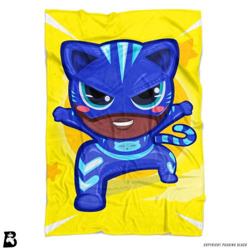 'PowerTuff Cat Boy' Soft Fleece Blanket Throw