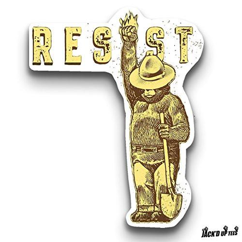 'RESIST' Smokey The Bear Car Window / Macbook / Laptop Decal