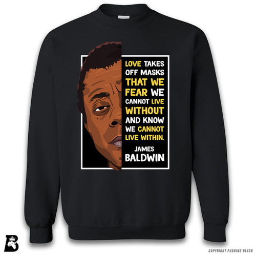 'The Legacy Collection - James Baldwin - Love' Premium Unisex Sweatshirt