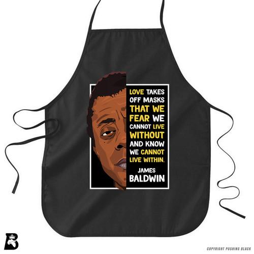 'The Legacy Collection - James Baldwin - Love' Premium Canvas Kitchen Apron