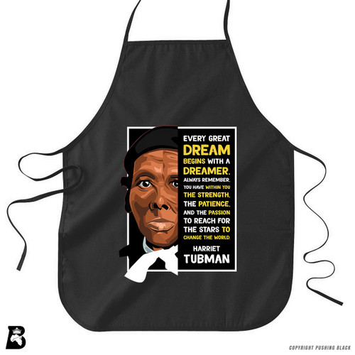 'The Legacy Collection - Harriet Tubman - Dream' Premium Canvas Kitchen Apron