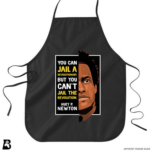 'The Legacy Collection - Huey P Newton - Can't Jail a Revolution' Premium Canvas Kitchen Apron
