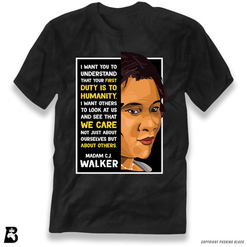 'The Legacy Collection - Madame C. J. Walker - Humanity' Premium Unisex T-Shirt