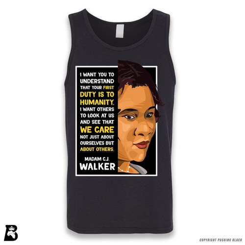 'The Legacy Collection - Madame C. J. Walker - Humanity' Sleeveless Unisex Tank Top